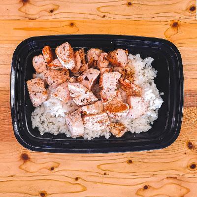 Seasoned Chicken & Coconut Rice