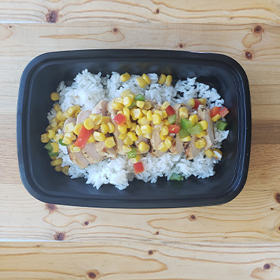 Baja Chicken with Coconut Rice