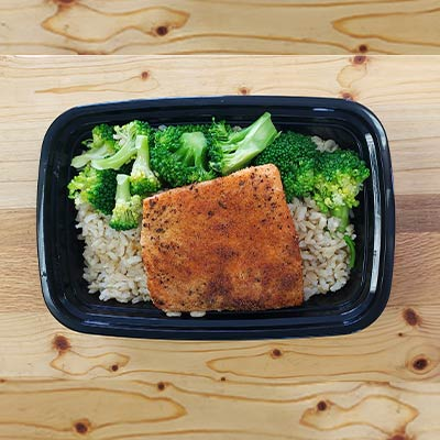 Seasoned Salmon & Broccoli