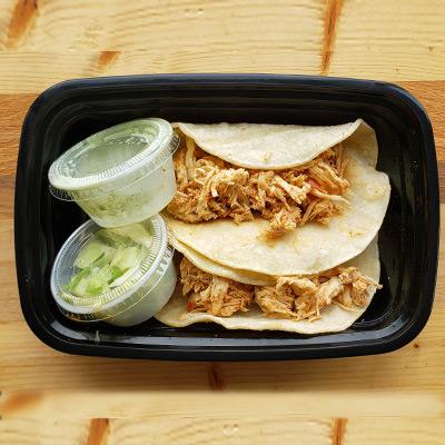 Seasoned Shredded Chicken Tacos